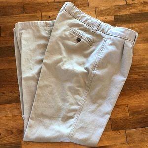 Chaps Husky School Uniform Pleated Twill Pants